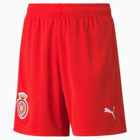Girona Replica Youth Football Shorts, Puma Red-Puma White, small