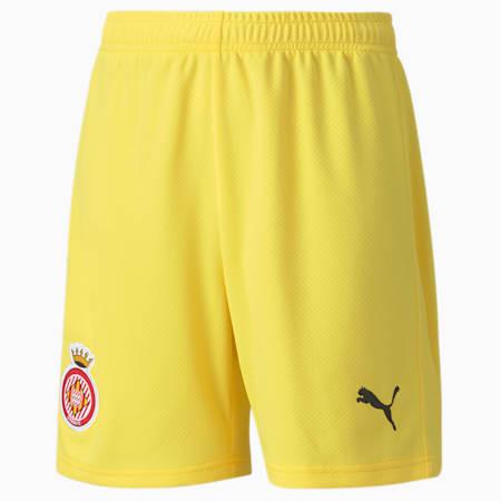 Shorts de fútbol réplica del Girona juveniles, Dandelion-Puma Black, small