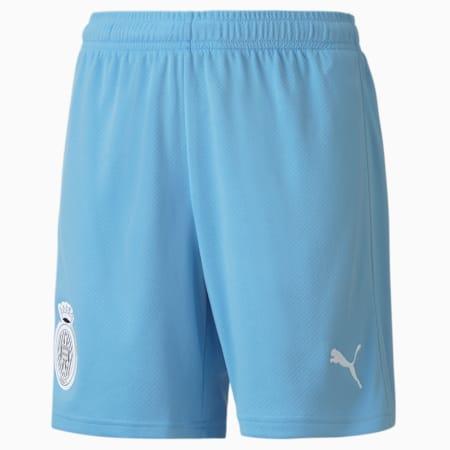 Shorts de fútbol réplica del Girona juveniles, Team Light Blue-Puma White, small