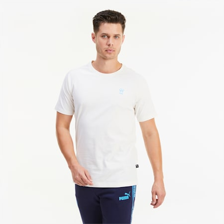 T-shirt da calcio Olympique de Marseille ftblFEAT Game da uomo, Whisper White, small
