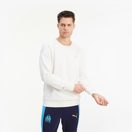 Olympique de Marseille ftblFEAT Game Men's Football Sweater, Whisper White, small
