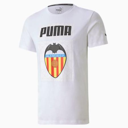 Valencia CF ftblCORE Graphic Men's Football T-Shirt, Puma White-Puma Black, small-IND
