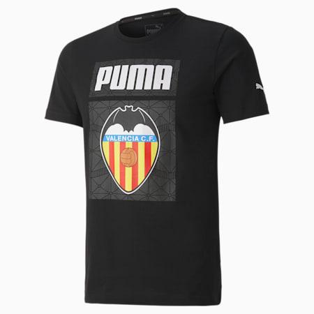 Valencia CF ftblCORE Graphic Men's Football T-Shirt, Puma Black-Puma White, small-IND