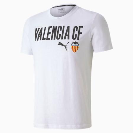 T-shirt da calcio Valencia CF ftblCORE con scritta da uomo, Puma White-Puma Black, small