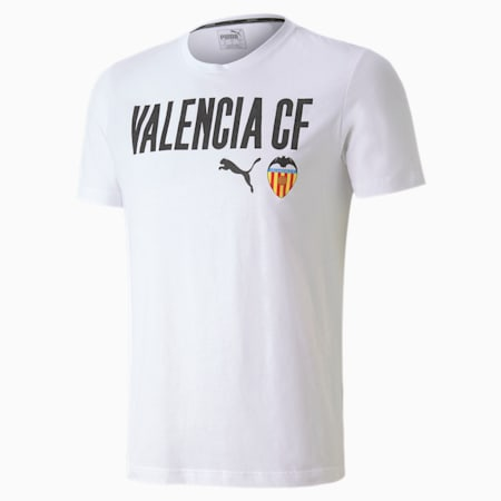 Valencia CF ftblCORE Wording Men's Football Tee, Puma White-Puma Black, small