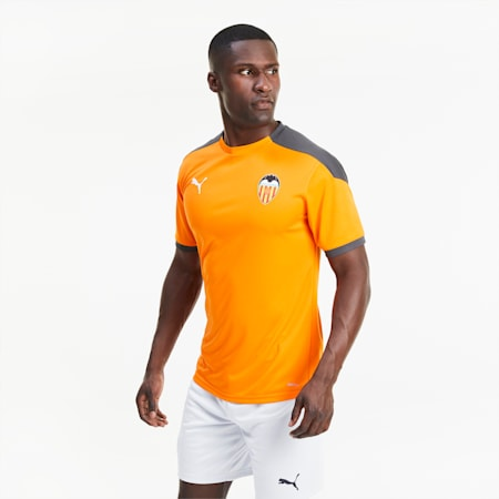 Valencia CF Men's Training Jersey, Vibrant Orange-Asphalt, small