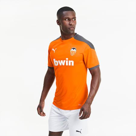 Valencia CF Men's Training Jersey, Vibrant Orange-Asphalt, small