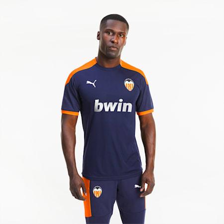 Valencia CF Men's Training Jersey, Peacoat-Vibrant Orange, small