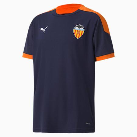 Maglia gara da training Valencia CF da ragazzo, Peacoat-Vibrant Orange, small