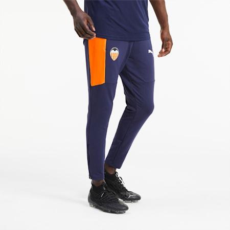 Męskie spodnie treningowe Valencia CF, Peacoat-Puma White, small