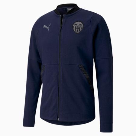 Valencia CF Casuals Herren Fußball Jacke, Peacoat-Smoked Pearl, small