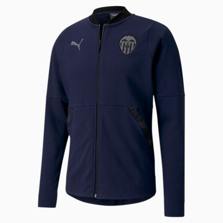 Blouson Valencia CF Casuals Football pour homme, Peacoat-Smoked Pearl, small