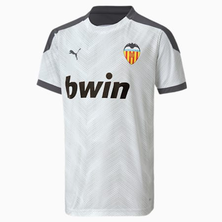 Męska koszulka stadionowa Valencia CF, Puma White-Asphalt, small