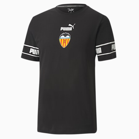 Valencia CF ftblCULTURE Men's Football Tee, Puma Black-Puma White, small