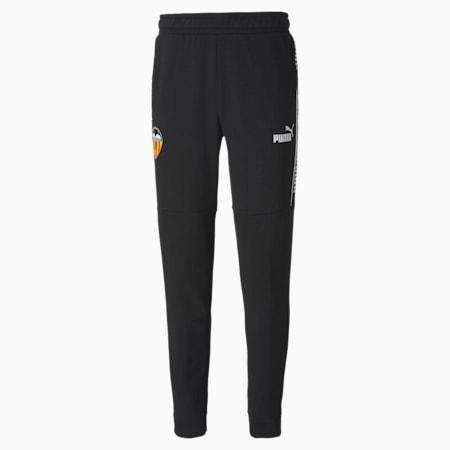 Męskie piłkarskie spodnie dresowe Valencia CF ftblCULTURE, Puma Black-Puma White, small