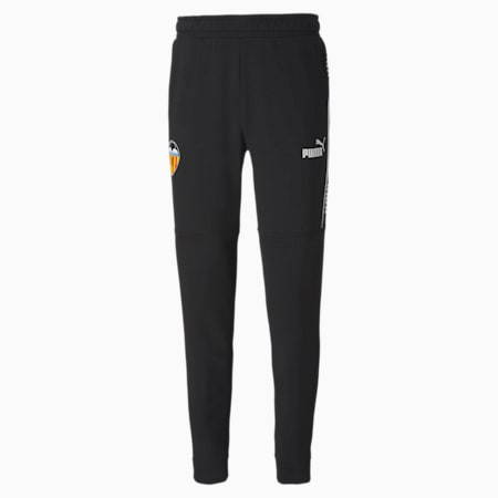 Valencia CF ftblCULTURE Men's Football Track Pants, Puma Black-Puma White, small