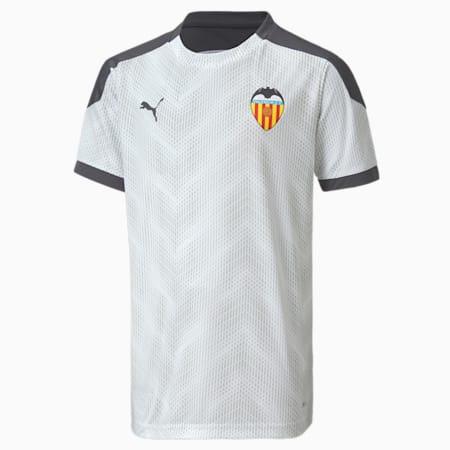 Młodzieżowa koszulka stadionowa Valencia CF, Puma White-Asphalt, small