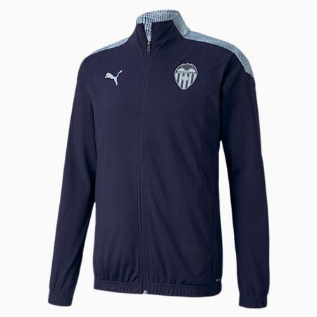 Valencia CF Stadium Men's Football Jacket, Peacoat-Heather, small