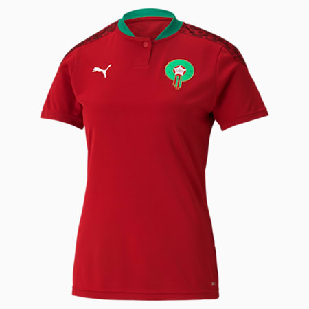 Morocco Home Replica Women's Jersey, Chili Pepper-Puma White, small-GBR