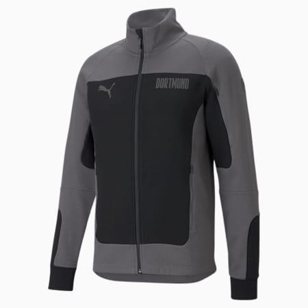BVB Evostripe Men's Football Jacket, Puma Black-CASTLEROCK, small-GBR