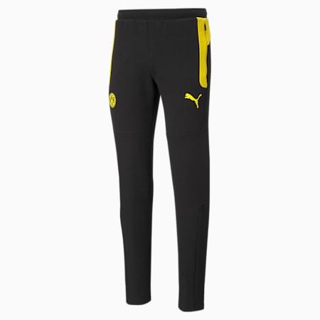 BVB Evostripe Men's Football Pants, Cyber Yellow-Puma Black, small-GBR