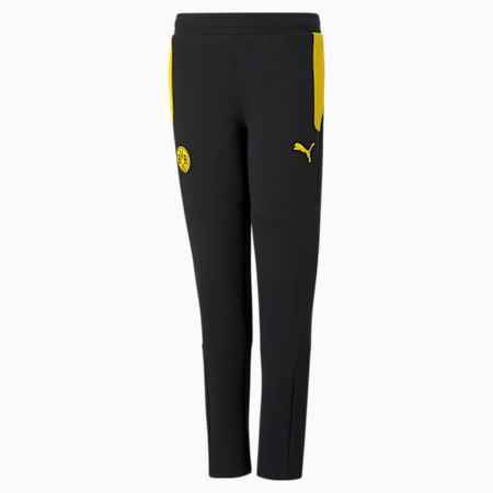 BVB Evostripe Youth Football Pants, Cyber Yellow-Puma Black, small