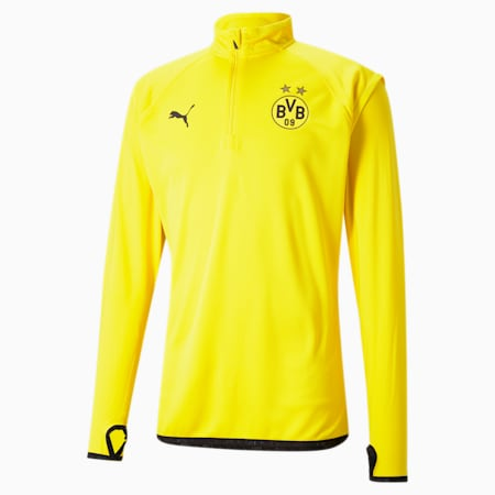 BVB Warm-Up Men's Football Midlayer, Cyber Yellow-Puma Black, small