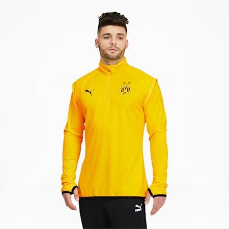Chaqueta para calentamiento BVB para hombre, Cyber Yellow-Puma Black, pequeño