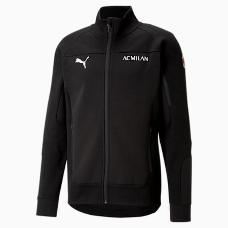 Męska kurtka piłkarska ACM Evostripe, Puma Black-Tango Red, small