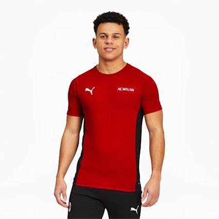 Camiseta de fútbol ACM Evostripepara hombre, Tango Red -Puma Black, pequeño