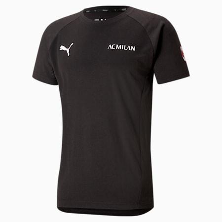 Męski T-shirt piłkarski ACM Evostripe, Puma Black-Tango Red, small