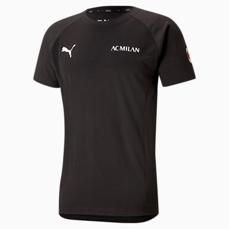 ACM Evostripe Men's Football Tee, Puma Black-Tango Red, small-GBR