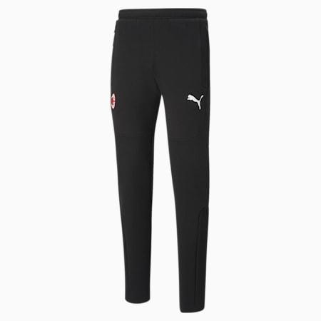 Męskie spodnie piłkarskie ACM Evostripe, Puma Black-Tango Red, small