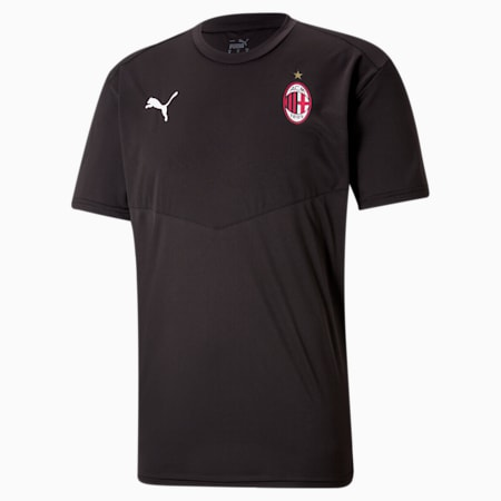 ACM Warm-up Men's Football Tee, Puma Black-Tango Red, small