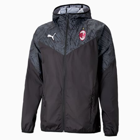 ACM Warm-up Men's Football Jacket, Puma Black-Tango Red, small-GBR