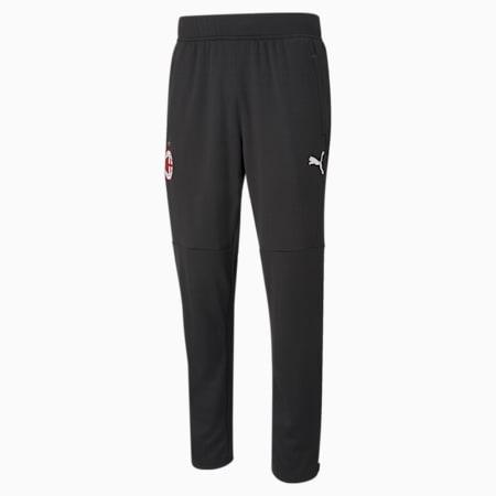 Pantalones para calentamiento AC Milanpara hombre, Puma Black-Tango Red, pequeño