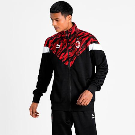 ACM MCS Iconic Men's Football Track Jacket, Tango Red -Puma Black, small-IND