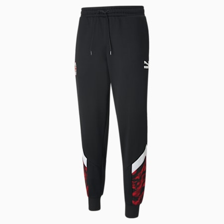 ACM MCS Iconic Men's Football Track Pants, Tango Red -Puma Black, small-GBR