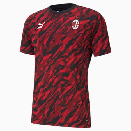ACM Iconic Graphic Men's Football Tee, Tango Red -Puma Black, small-GBR