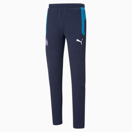 OM Evostripe Men's Football Pants, Peacoat-Bleu Azur, small