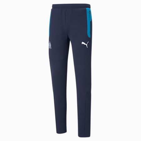 Pantaloni da calcio OM Evostripe uomo, Peacoat-Bleu Azur, small