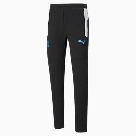 OM Evostripe Men's Football Pants, Cotton Black-Puma White, small-GBR