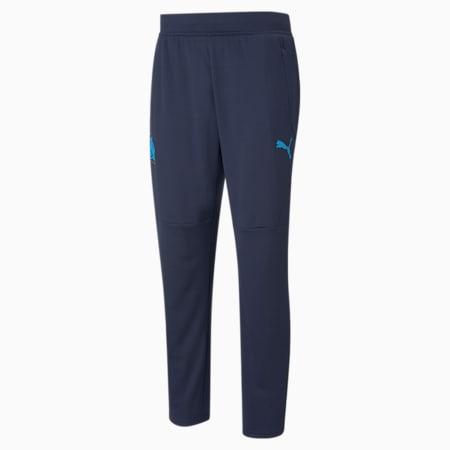 OM Warm-Up Men's Football Pants, Peacoat-Bleu Azur, small-GBR