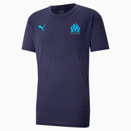 OM warming-upshirt heren, Peacoat-Bleu Azur, small