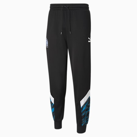 Pantaloni sportivi da calcio OM Iconic MCS uomo, Puma Black-Puma White, small