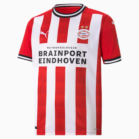 Maillot de football PSV Eindhoven Home Replica enfants et adolescents, High Risk Red-Puma White, small