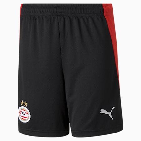 Shorts de fútbol réplica de la 1.ª equipación del PSV Eindhoven juveniles, Puma Black-High Risk Red, small