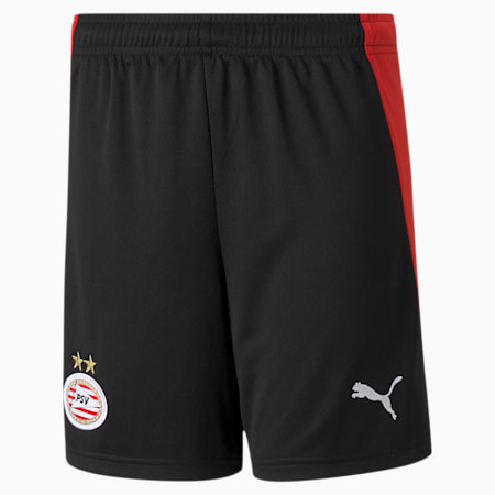 PSV Eindhoven Home Replica Youth Football Shorts, Puma Black-High Risk Red, small-GBR