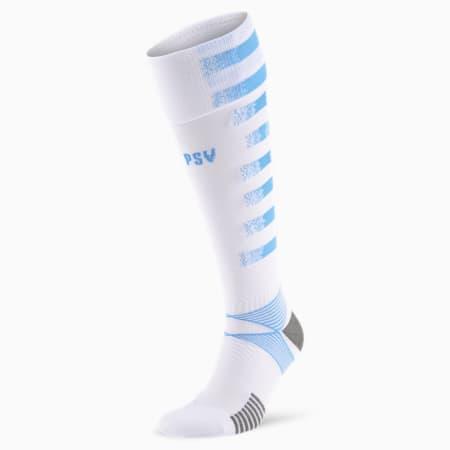 Chaussettes extérieur PSV Eindhoven pour homme, Team Light Blue-Puma White, small