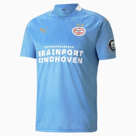 Męska replika koszulki wyjazdowej PSV Eindhoven, Team Light Blue-Puma White, small